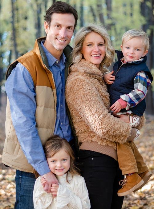 Chiropractor Eden Prairie MN John Borsheim with Smiling Family